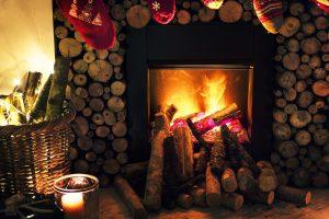 cheminée feu bois